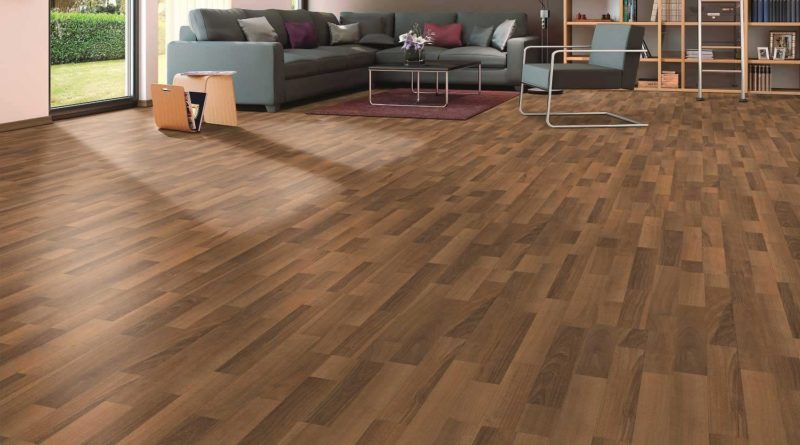 Como Walnut Laminated Flooring 6mm