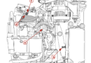 Location of Throttle Position Sensor TPS, Throttle Stop Screw, Roller and Pocket
