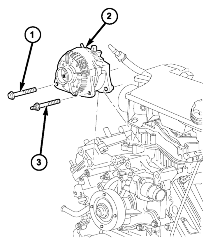Take out the old alternator and use another instead of the bad one.