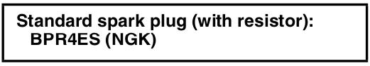 Yamaha spark plug size and brand for generator